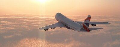 Väggdekor kommersiella flygplan