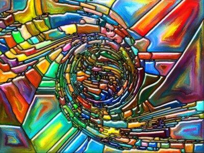 Väggdekor konceptuell Fragmentering