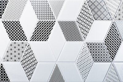 Väggdekor konsistens av klassiska plattor, abstrakt mönster