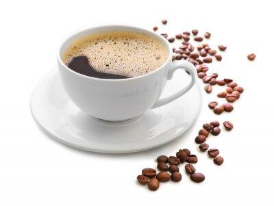 Väggdekor Kopp kaffe isolerad på vitt