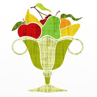 Väggdekor kopp med frukt