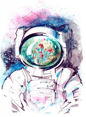 Väggdekor kosmos