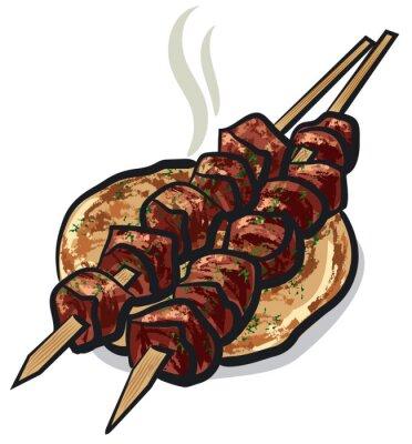 Väggdekor kött kebab
