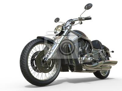Väggdekor Kraftfull Vintage Motorcycle - Närbild
