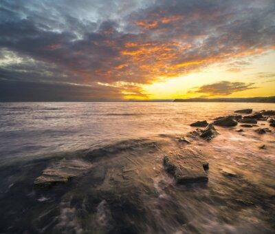 Väggdekor Krajobraz morski, zachód słońca