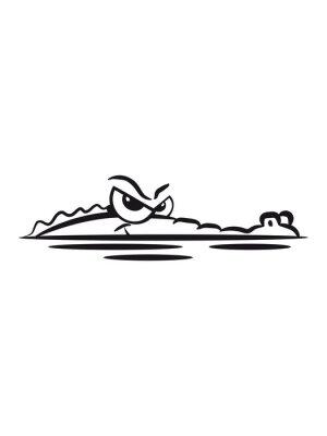 Väggdekor Krokodil lauren vatten