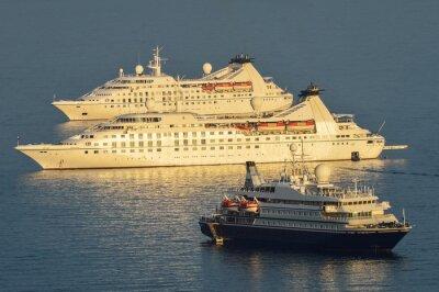 Väggdekor Kryssningsfartyg förtöjda Dubrovnik