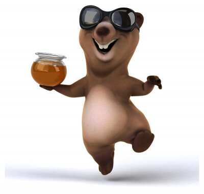 Väggdekor kul björn