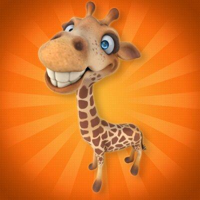 Väggdekor kul giraff