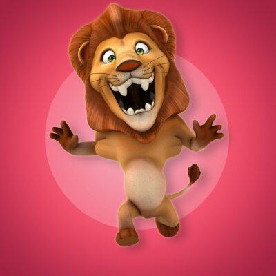 Väggdekor kul lejon