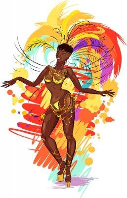 Väggdekor Kvinna samba dansare