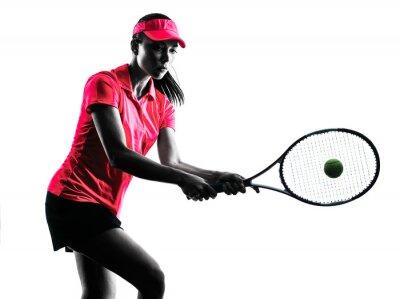 Väggdekor kvinna tennisspelare sorg silhuett