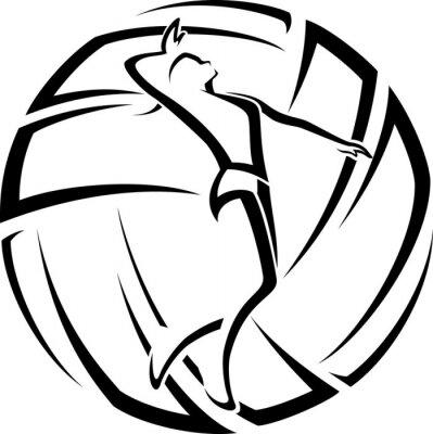 Väggdekor Kvinna Volleyboll Accent