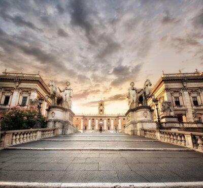 Väggdekor La Scalinata del Campidoglio, Roma