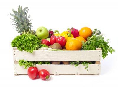Väggdekor Låda med frukt och grönsaker