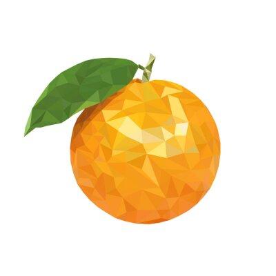 Väggdekor Låg poly apelsin