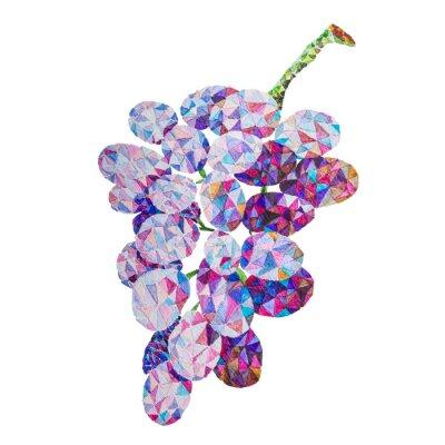 Väggdekor Låga poly vattenfärg druvor