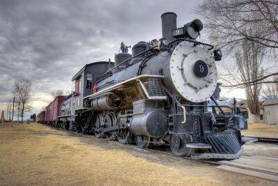 Väggdekor lagar tåg