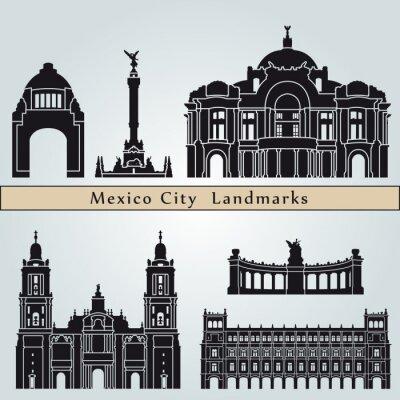Väggdekor landmärken och monument i Mexico City