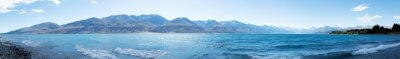 Väggdekor landskap av sjön i sommardag i Nya Zeeland