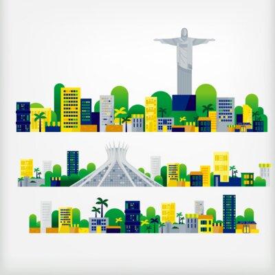 Väggdekor landskap brazil