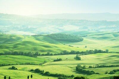 Väggdekor landskap i Toscana, Italien
