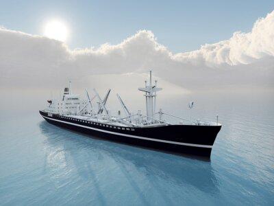 Väggdekor Lastfartyg