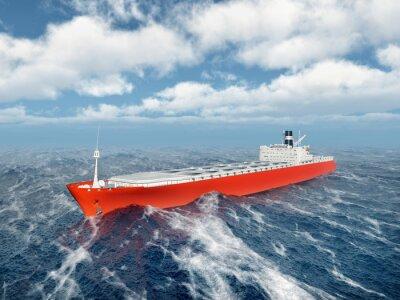 Väggdekor Lastfartyg i stormigt hav
