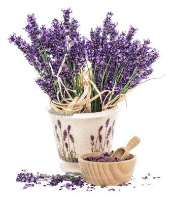 Väggdekor Lavendel och trä murbruk med badsalt