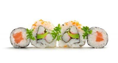 Väggdekor lax sushi maki och Kalifornien rullar