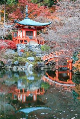 Väggdekor Ledigheten ändra färg rött i Temple japan.