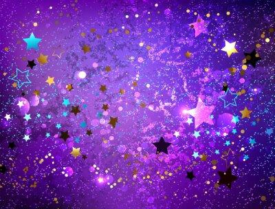 Väggdekor Lila bakgrund med stjärnor