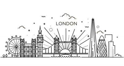 Väggdekor Linjär banner i London stad.