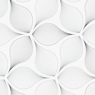 Väggdekor linjärt vektormönster, upprepande abstrakta blommor, grå blad eller blomma, blommig. grafisk ren design för tyg, händelse, tapeter etc. mönster finns på färgrutan.