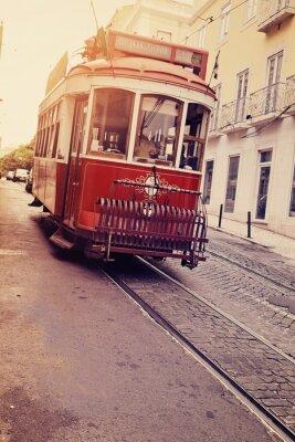 Väggdekor Lisbonne (spårvagn électrique)