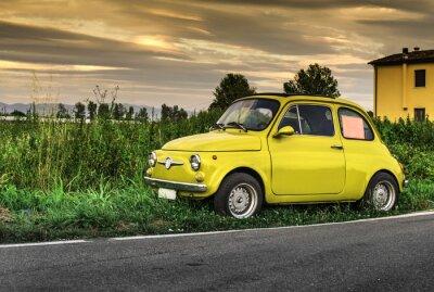 Väggdekor Liten vintage italiensk bil Fiat Abarth