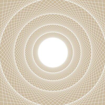 Väggdekor Ljus web rör, en centrerad vy från insidan av en webb tunnel, med en vit öppen kärna