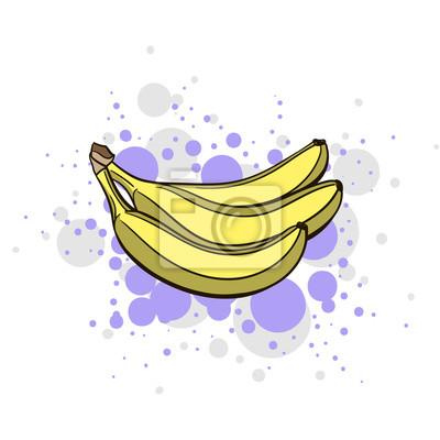 Väggdekor Ljusa saftig Banan
