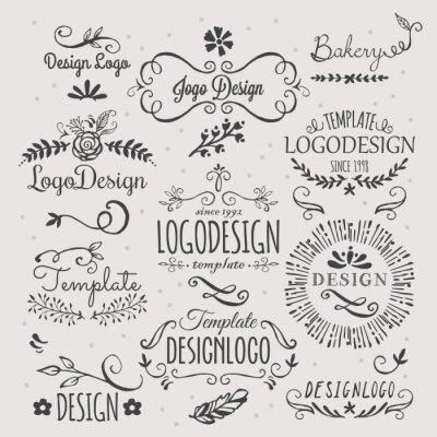 Väggdekor Logo design med hand skissade element