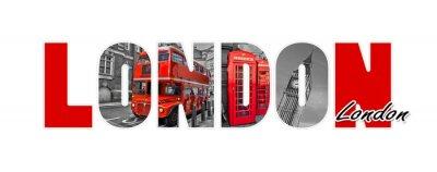 Väggdekor London brev, isolerad på vit bakgrund, resor och turism i Storbritannien koncept