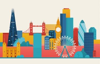 Väggdekor London city illustration.