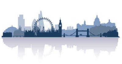 Väggdekor London i platt stilvektor
