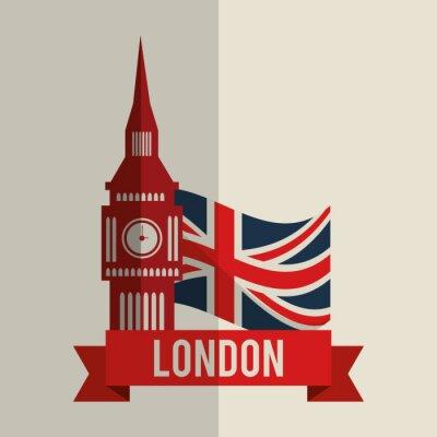 Väggdekor London ikonen design