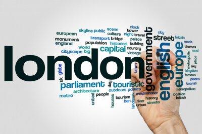 Väggdekor London ord moln