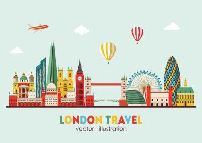 Väggdekor London Skyline abstract. Vektor illustration - stock vektor