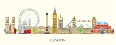 Väggdekor London skyline vector 7