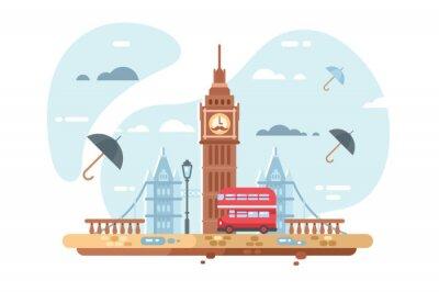 Väggdekor London stadshorisont