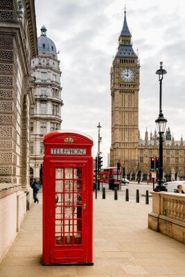 Väggdekor London Telefon Booth och Big Ben