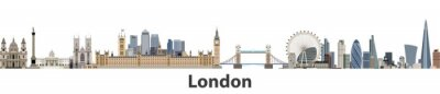 Väggdekor London vektor city skyline
