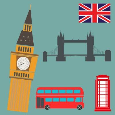 Väggdekor London vektorgrafik